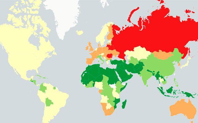 En qué parte del mundo se bebe más alcohol