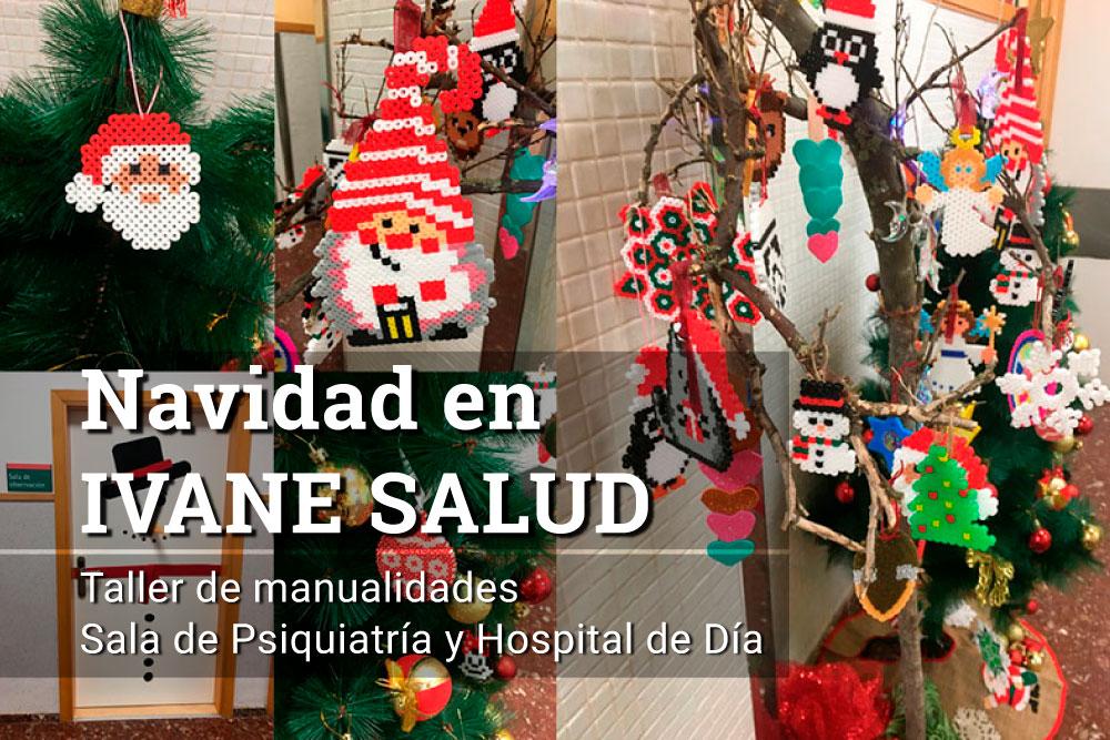 Taller de Navidad por pacientes de la Sala de Psiquiatría y Hospital de Día en IVANE Salud