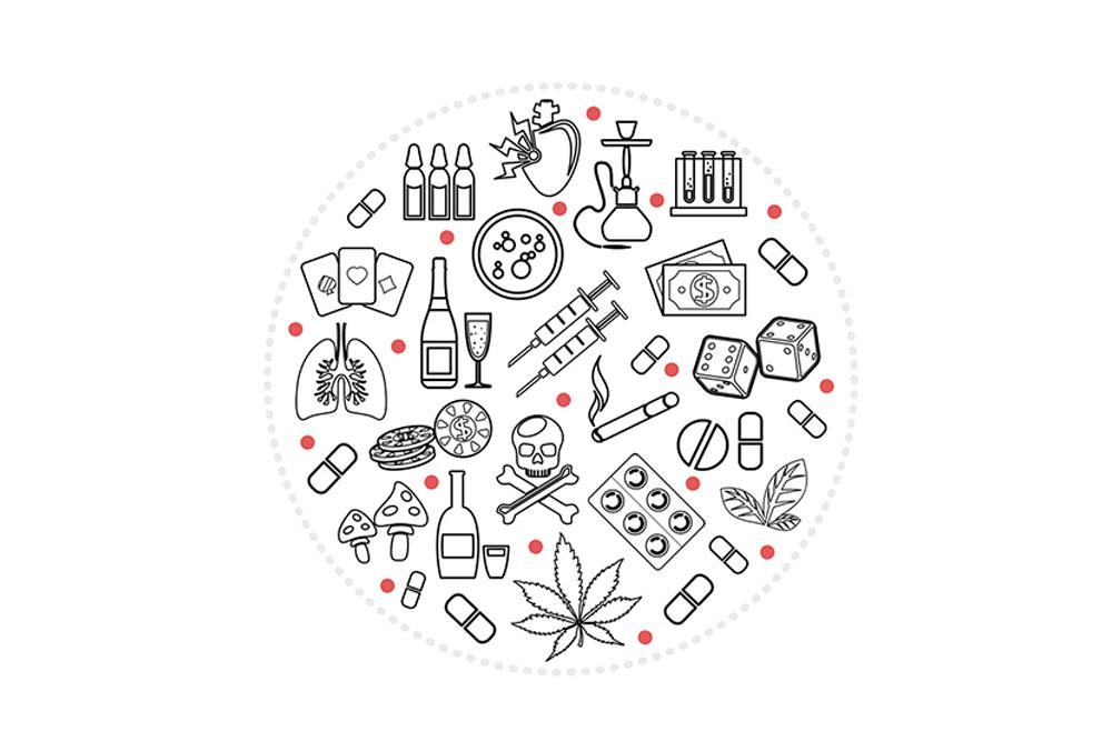 Las adicciones son una enfermedad cerebral persistente que se caracteriza la disminución de la capacidad para controlar el consumo de sustancias tóxicas.