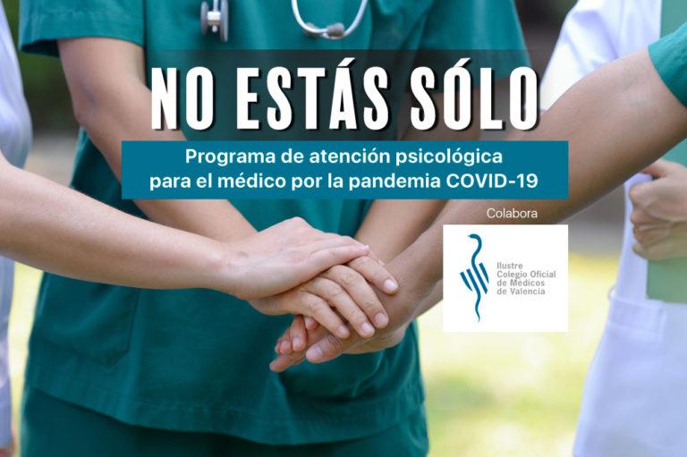 Programa de atención psicológica para el médico por la pandemia COVID-19 por el equipo de psiquiatría de IVANE SALUD en colaboración con el ICOMV.